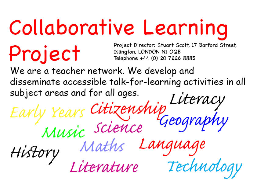 Collaborative Teaching Examples ~ Links to all our activities on line