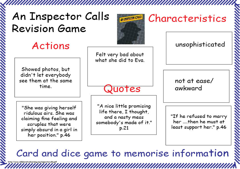 inspector calls essay question An inspector calls essay print of massiveness and intimidation which is the same effect that the inspector is audience ask questions.