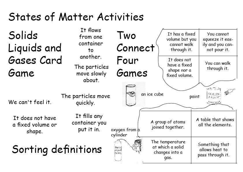 Science: Chemistry activities